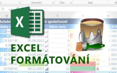 Excel – Formátování tabulek