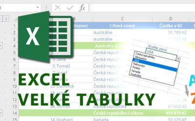 Excel – Velké tabulky
