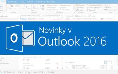 Novinky v Outlook 2016