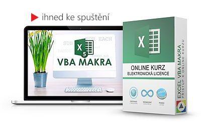 Excel VBA a makra - základy programování