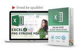 Online kurz Excel pro středně pokročilé